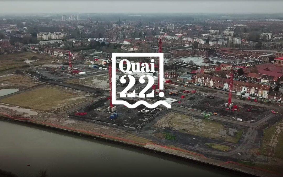Survolez le manège des grues qui a démarré sur le chantier de Quai 22 !