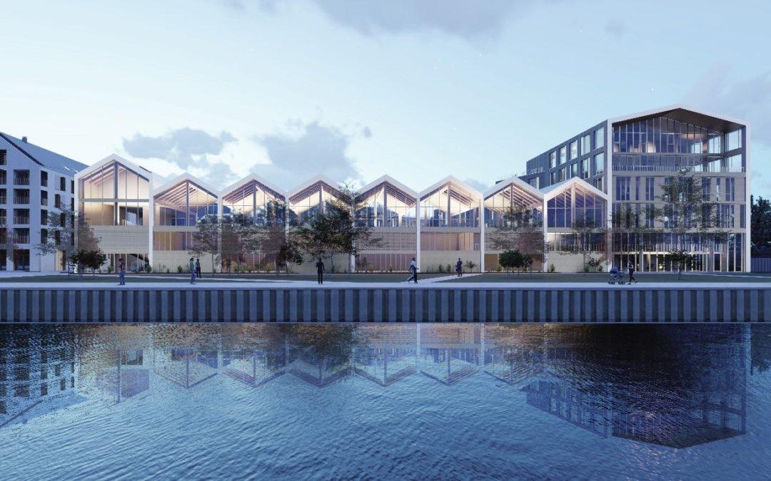 Panorama : des bureaux 100 % bois en bord de Deûle